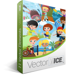 Kids Outdoor Vector Pack | Vector Graphics | VectorVice
