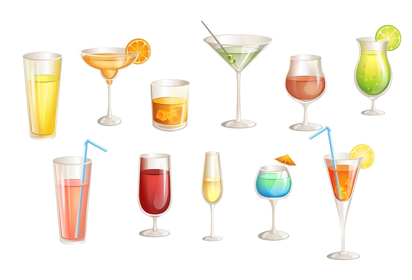 100 Cocktail Icon Vector Summer And Holiday Resort