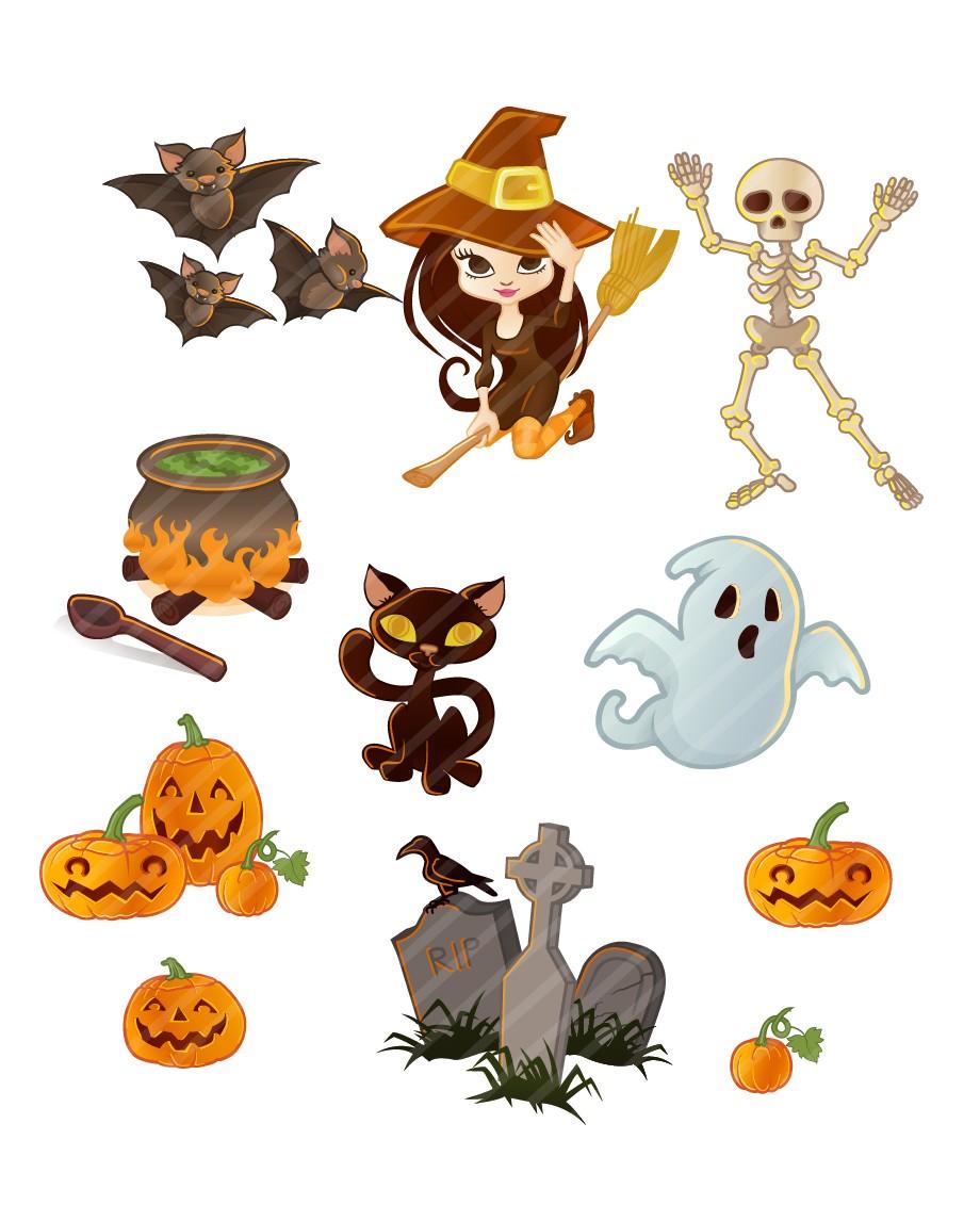 Halloween Vectors happy halloween design elements Enlarge