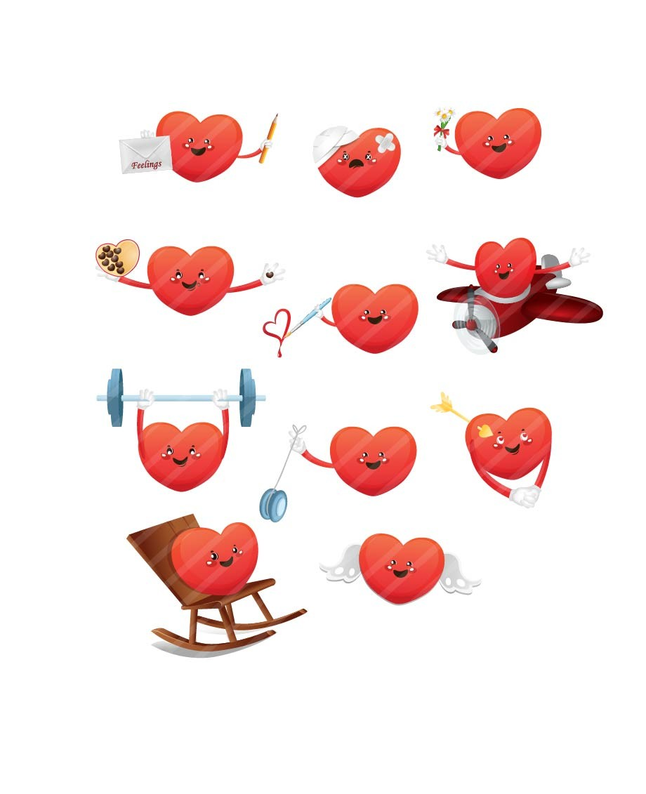 valentines hearts vector pack valentine u0027s day heart vector art