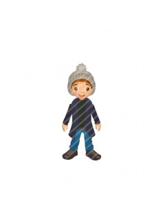 autumn-kid-vector-image