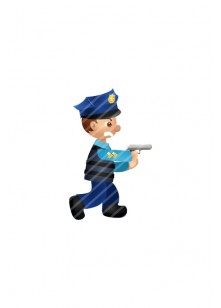 Police-man-with-gun-vector-image