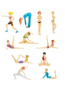 Girls at the Gym Vector Pack | Vector Silhouette | VectorVice