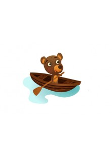 Bear Vector Pack | Bear Rowing Vector Image | VectorVice