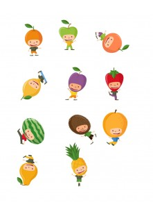 Fruit Kids Vector Pack | Vector Graphics | VectorVice