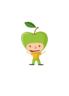 Fruit Kids Vector Pack | Kid Apple Vector Image | VectorVice