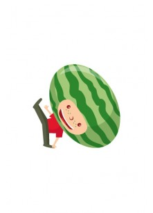 Fruit Kids Vector Pack | Kid Watermellon Vector Image | VectorVice
