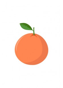 Fruits Vector Pack   Tangerine Vector Image   VectorVice