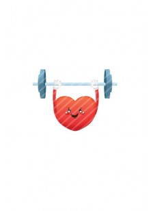 Valentines Day Vector Pack | Heart Weight Lifting Vector Image| VectorVice