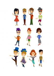Hipsters Vector Pack | Vector Characters | VectorVice