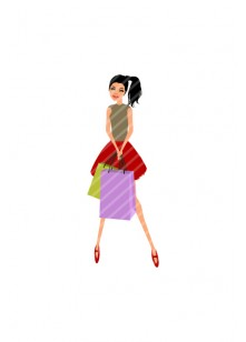 Shopping Girl Vector Pack | Vector Fashion Characters | VectorVice