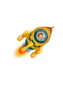 Space Vector Image Spaceship Rocket | Vector Space Rocket | VectorVice