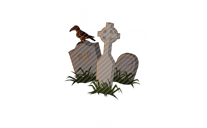 Halloween Vector Pack | Vector Crow on the grave | VectorVice