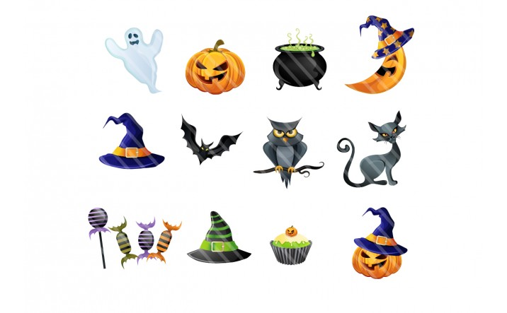 Halloween Vector Graphics | Vector Elements | VectorVice