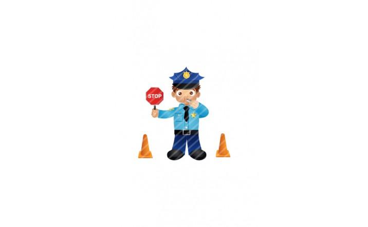 Police-man-traffic-vector-image