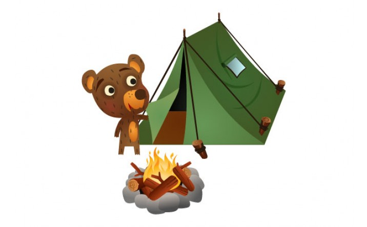 Bear Vector Pack | Bear Camping Vector Image | VectorVice