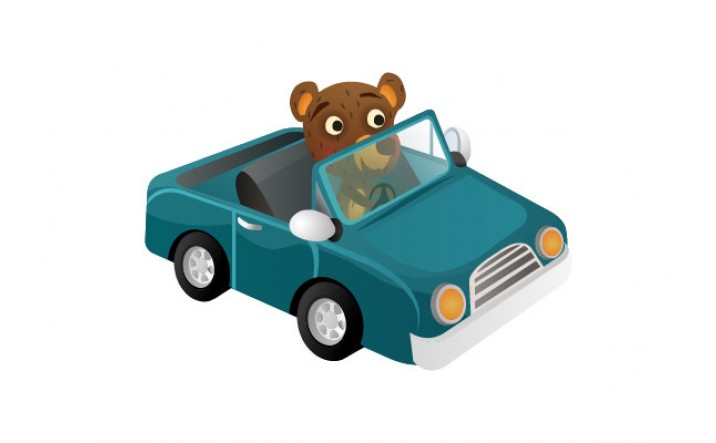Bear Vector Pack | Bear Driving Vector Image | VectorVice