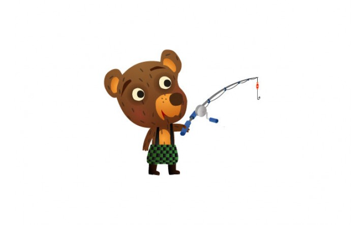 Bear Vector Pack | Bear Fishing Vector Image | VectorVice