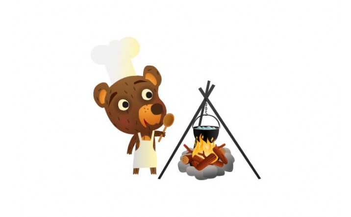 Bear Vector Pack | Bear Cooking Vector Image | VectorVice