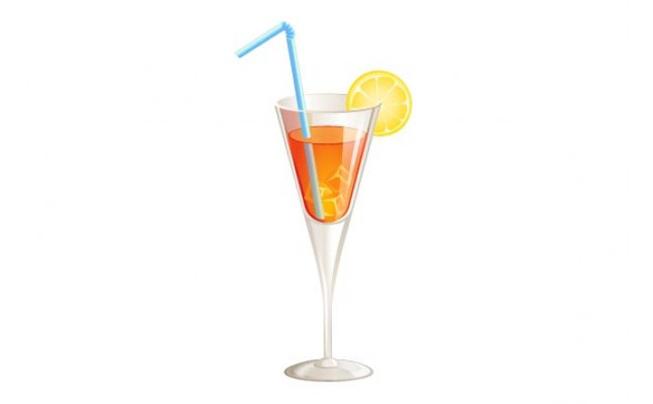 Cocktails Vector Pack | Orange on Rocks Vector Image | VectorVice