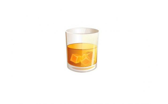 Cocktails Vector Pack | Whisky in Rocks Vector Image | VectorVice