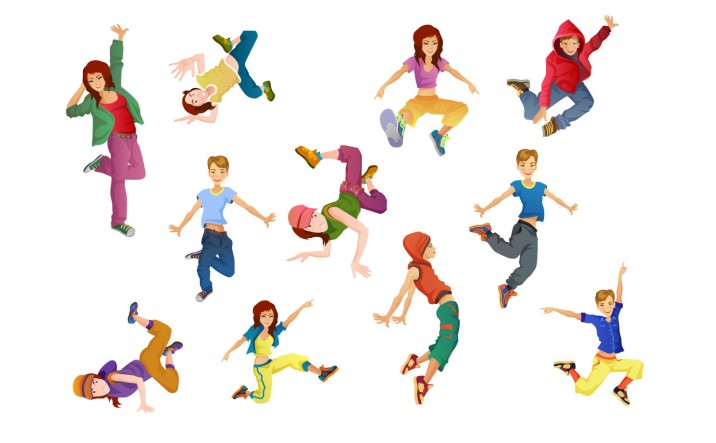 Dancers Vector Pack | Vector Characters Dancing | VectorVice