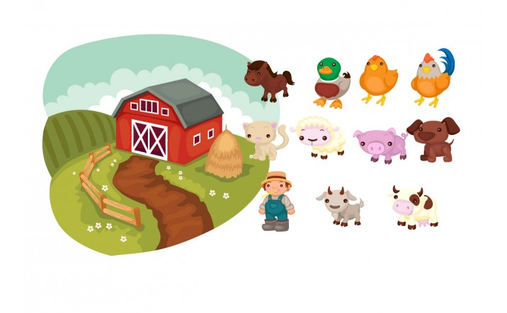 Farm Animals Vector Pack | Vector Animals at Farm | VectorVice