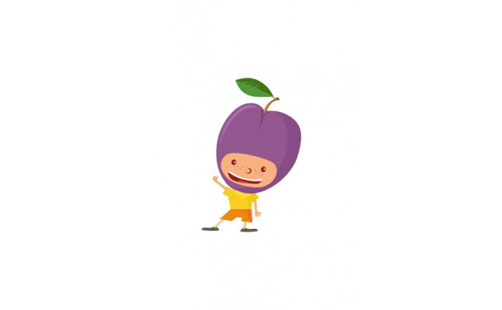 Fruit Kids Vector Pack | Kid Plumb Vector Image | VectorVice