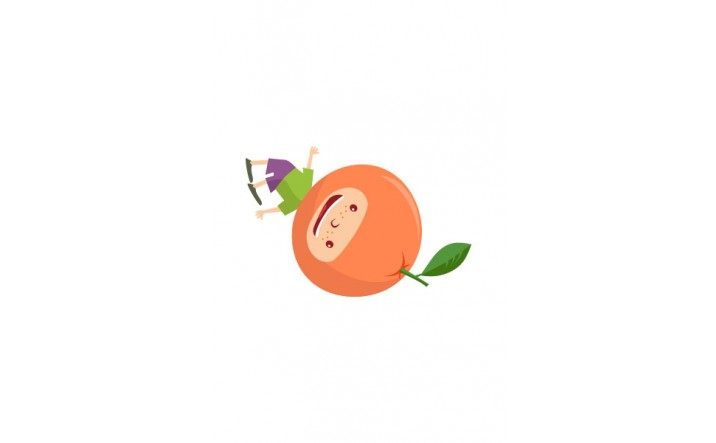 Fruit Kids Vector Pack | Kid Orange Vector Image | VectorVice