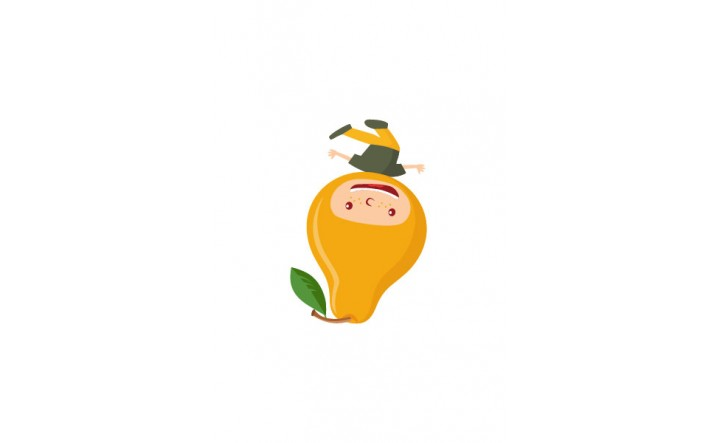 Fruit Kids Vector Pack | Kid Pear Vector Image | VectorVice