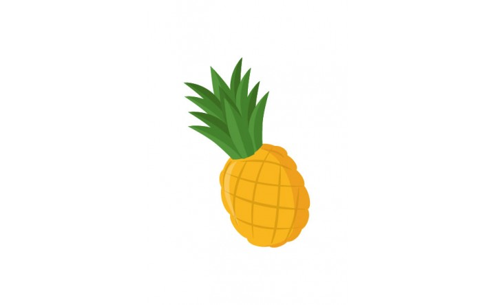Fruits Vector Pack   Pineapple Vector Image   VectorVice
