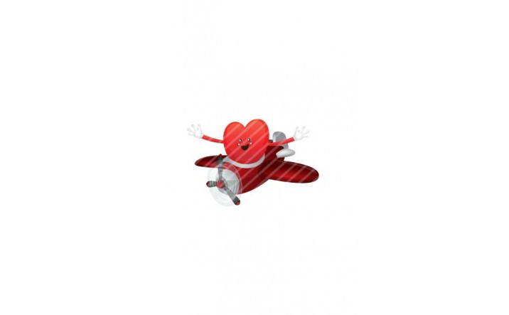 Valentines Day Vector Pack | Heart on Plane Vector Image| VectorVice
