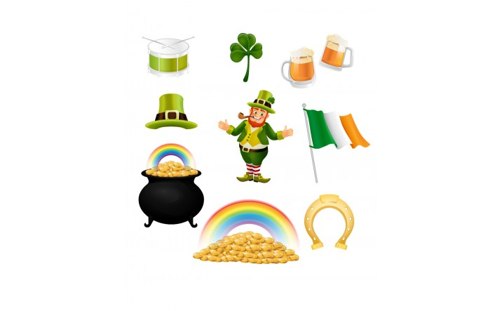 Saint Patrick Vector Pack | Irish Vector Elements | VectorVice