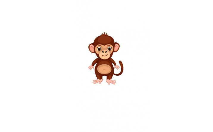 Wild Animal Vector Pack | Monkey Vector Image | VectorVice