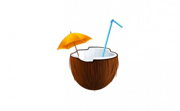 Summer Cocktails Vector Pack | Coconut Vector Image| VectorVice