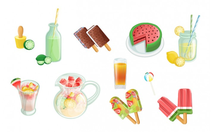 Summer Snacks Vector Pack | Vector Graphics | VectorVice