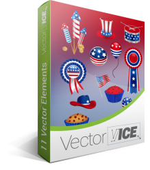 4th July Vector Pack | Vector Graphics | VectorVice
