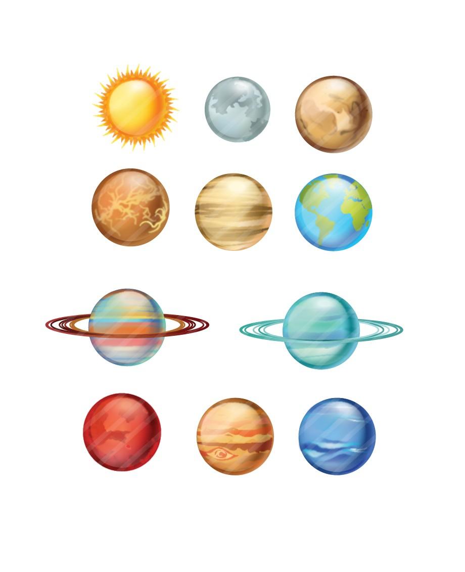 Картинка планет для детей цветная