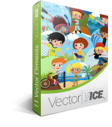 Outdoor Kids Activities Vector Pack