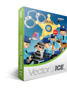 Police-vector-graphics-pack
