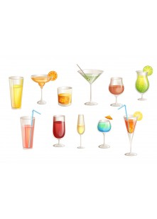 Cocktails Vector Pack | Vector Graphics | VectorVice