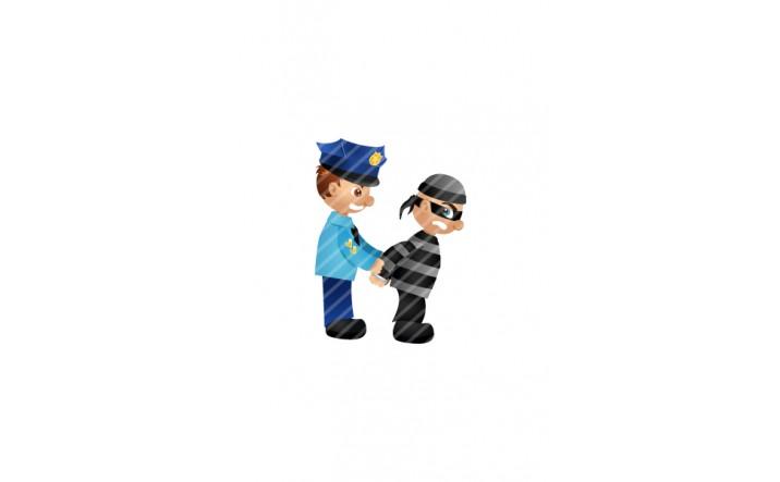 Police-man-and-burglar-thief-vector-image