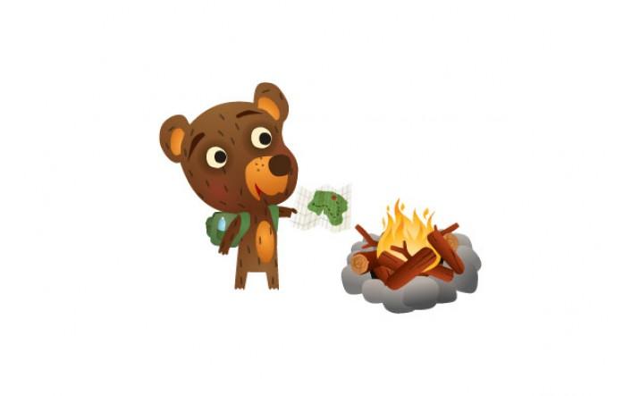 Bear Vector Pack | Bear Campfire Vector Image | VectorVice
