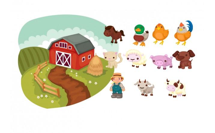 Farm Animals Vector Pack | Vector Animals at Farm | VectorVice