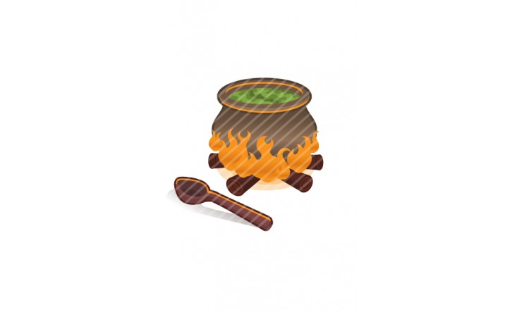 Halloween Vector Pack | Boiling Cauldron Vector Image | VectorVice