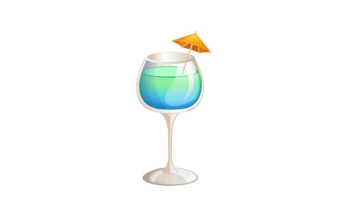 Cocktails Vector Pack | Blue Curacao Vector Image | VectorVice