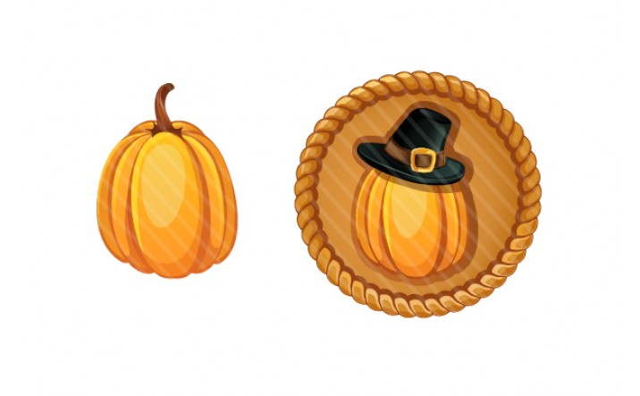 Thanksgiving Vector Pumpkin Graphics